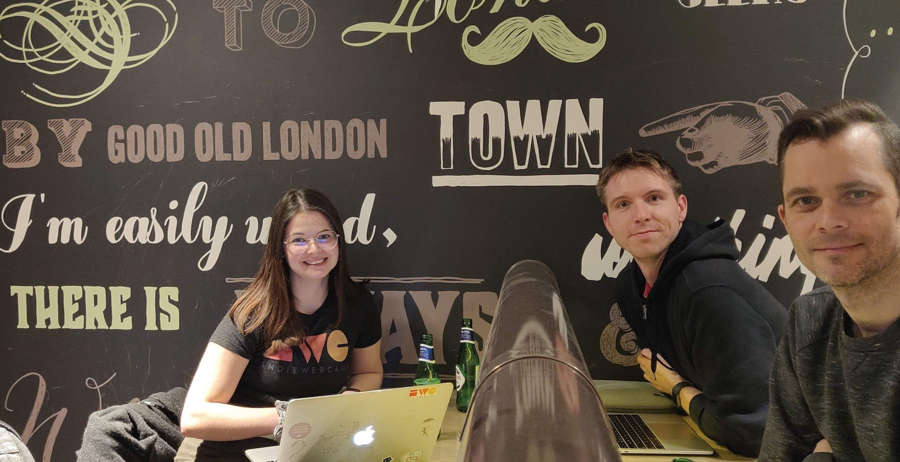 Three particpants in 2020 at HWC London inside at ProvenDough