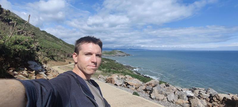 Calum on The Mumbles coastal footpath