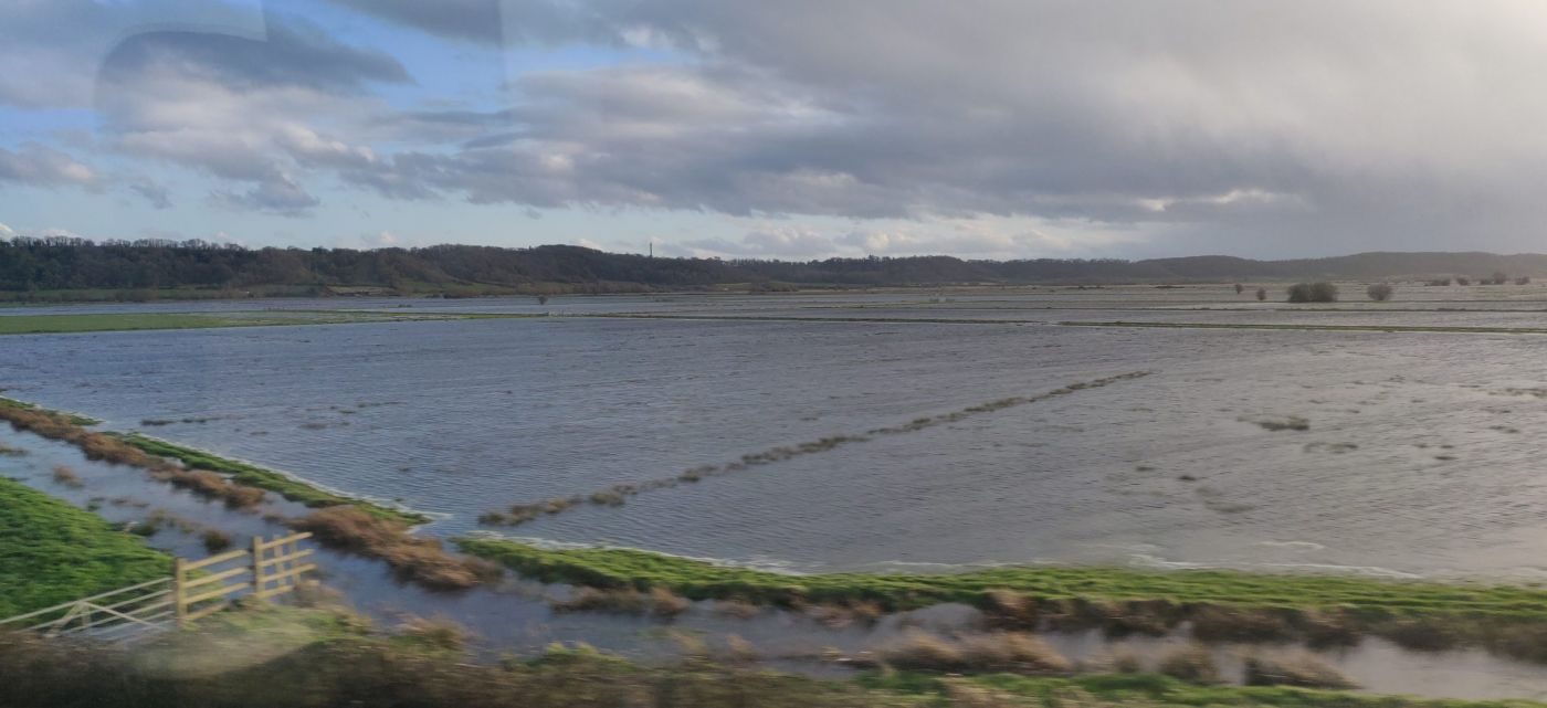 Flooded field in Somerset.