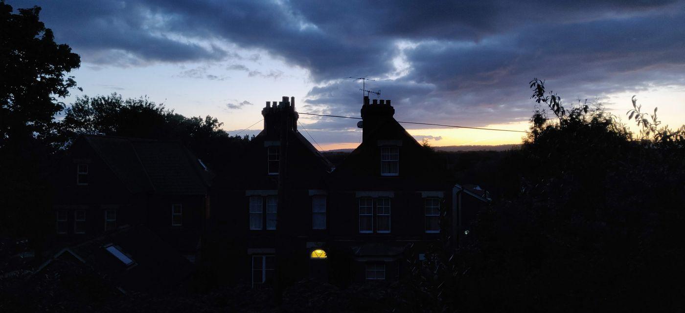 Kent Weald sunset view from Tonbridge