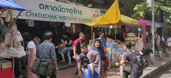View of Chatuchak Weekend Market (ตลาดนัดจตุจักร)