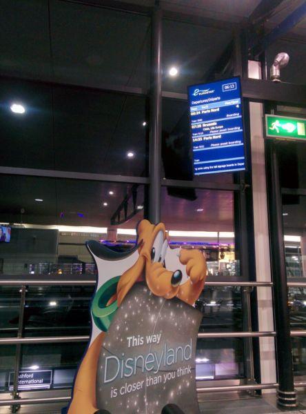 View of Eurostar Terminal. No queues unlike London, straight through security and passport checks