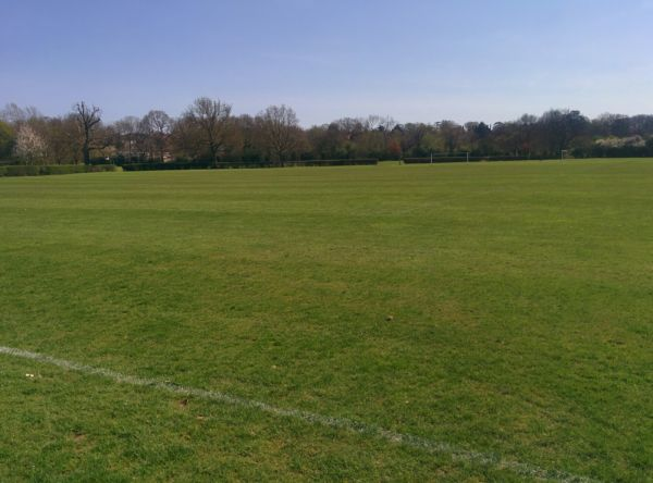 View of Tonbridge Farm Sports Ground. Post lunch wander 22°C