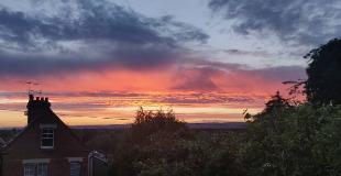 June sunset \#tonbridge